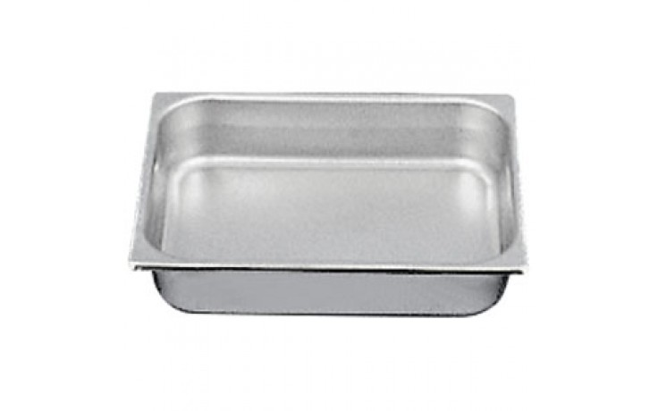"10 3/8"" x 12 3/4"" x 2 1/2"" Half Size Steam Table Pan"