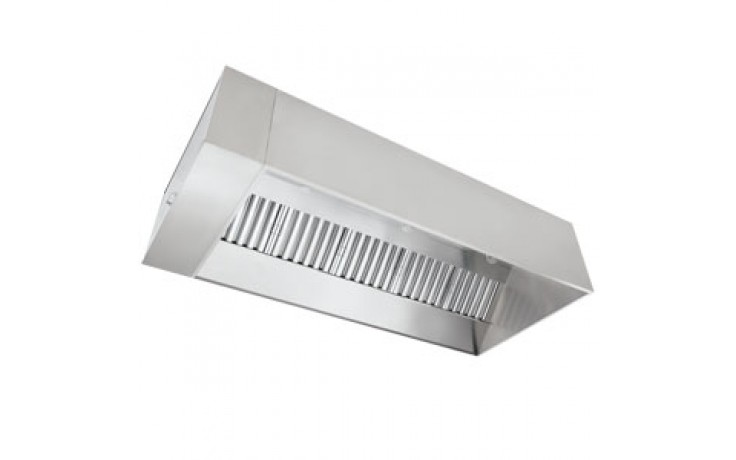 10' L 304 Stainless Steel Exhaust Only Hood (Complete) with Fan