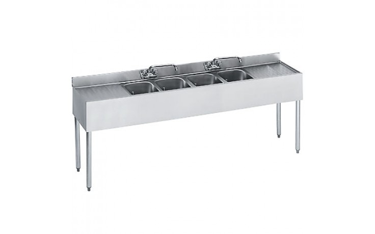 8' L 1800 Series 4 Compartment Sink
