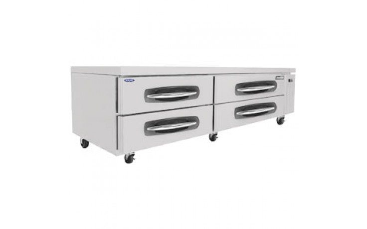 "83 1/4"" W Four Drawer Ten Pan Refrigerated Chef Base"