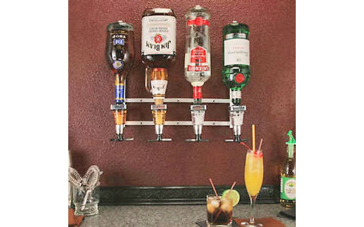 In-Line Wall Mount w/Meter Liquor Dispensing System