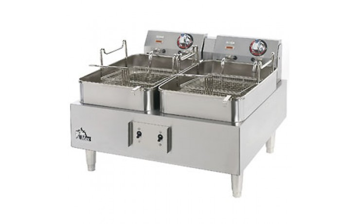 30 Lb. Capacity 64 Lb. Fries/Hour Heavy Duty Electric Counter Fryer