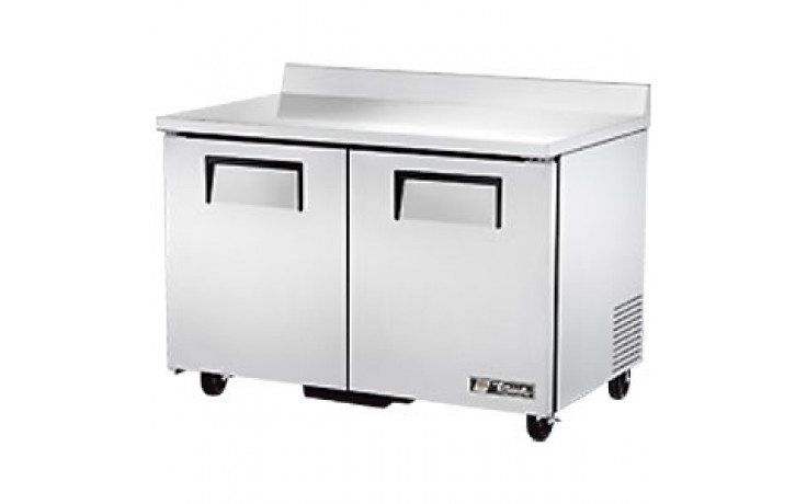 "48 3/8"" W 12 Cubic Ft Two Door Worktop Freezer"
