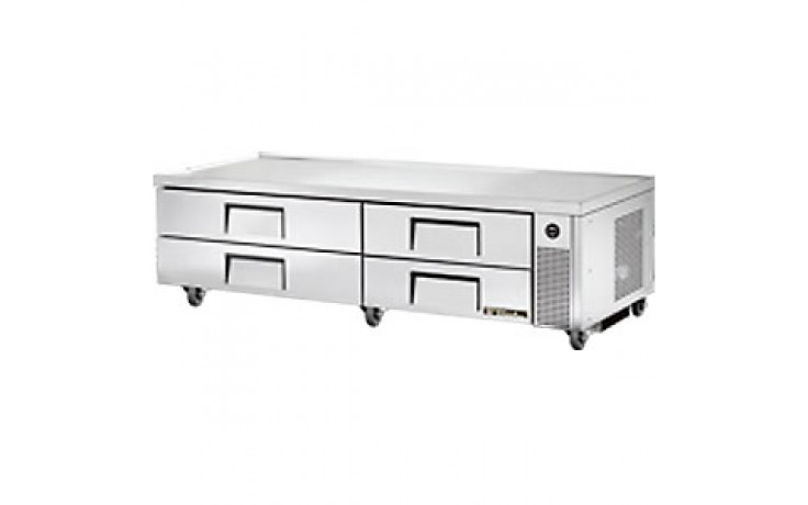 "82 3/8"" W Four Drawer Ten Pan Flush Top Refrigerated Chef Base"