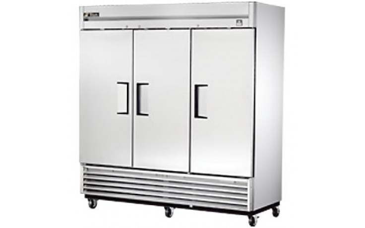 72 Cubic Ft Three Swing Door Refrigerator - All Stainless Steel