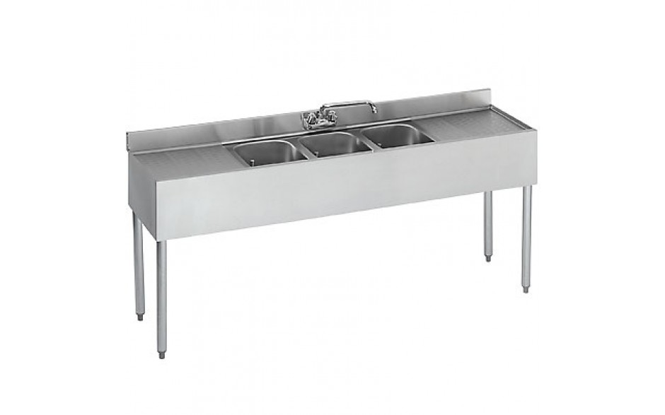 8' L 2100 Series 3 Compartment Sink
