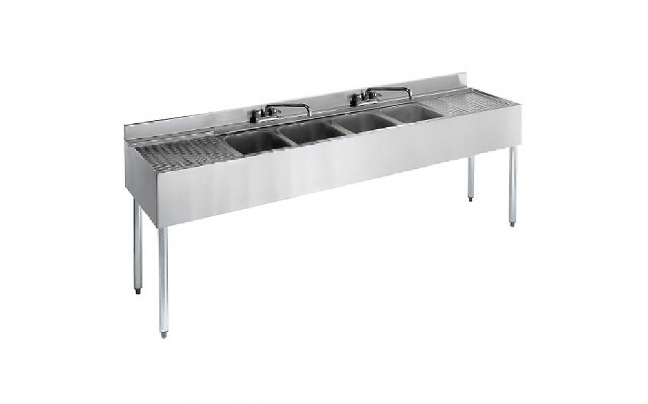 7' L 2100 Series 4 Compartment Sink