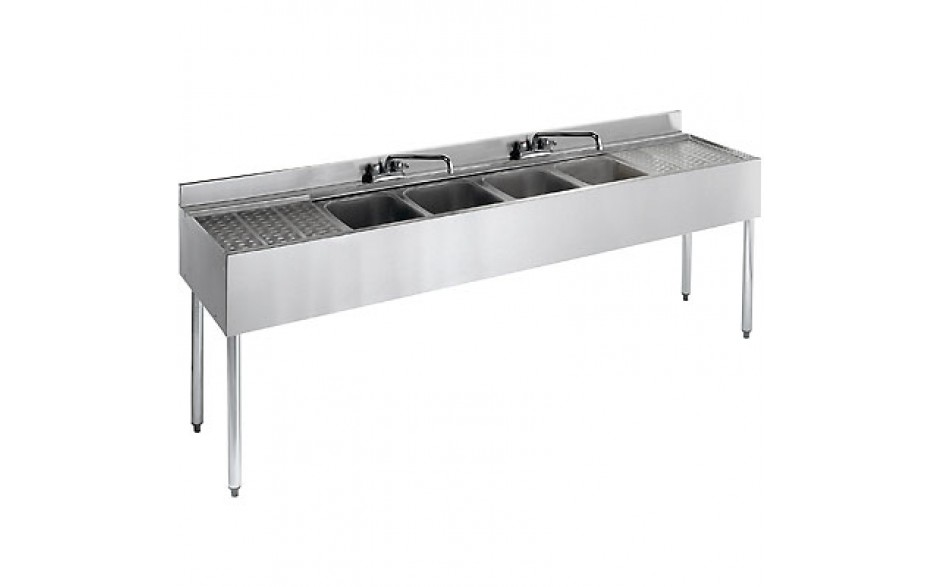 8' L 2100 Series 4 Compartment Sink