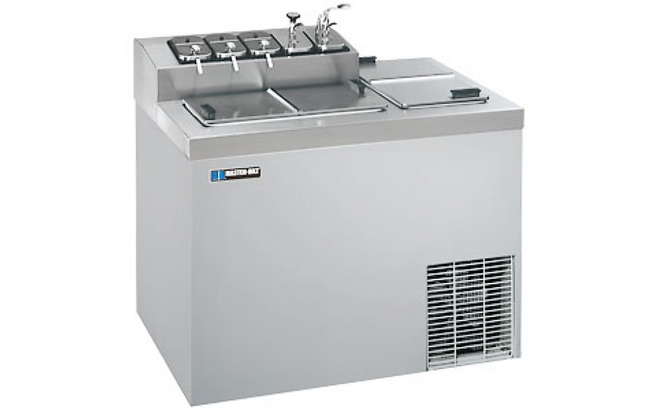 """43"""" W 5 Opening Top Rail 12 Tub Flavorail Cabinet - Stainless Steel"""
