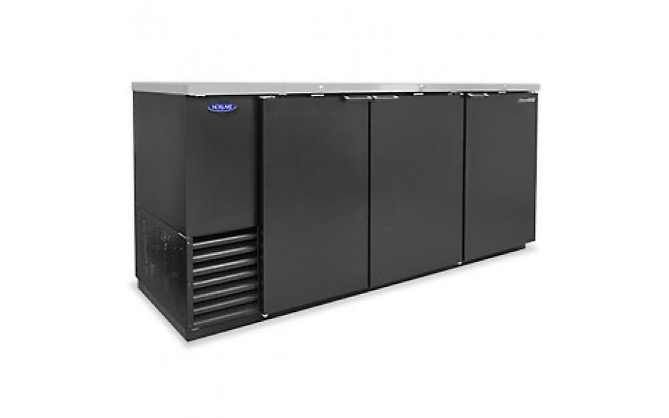 "80 3/4"" Wide Solid Door Back Bar Cooler"