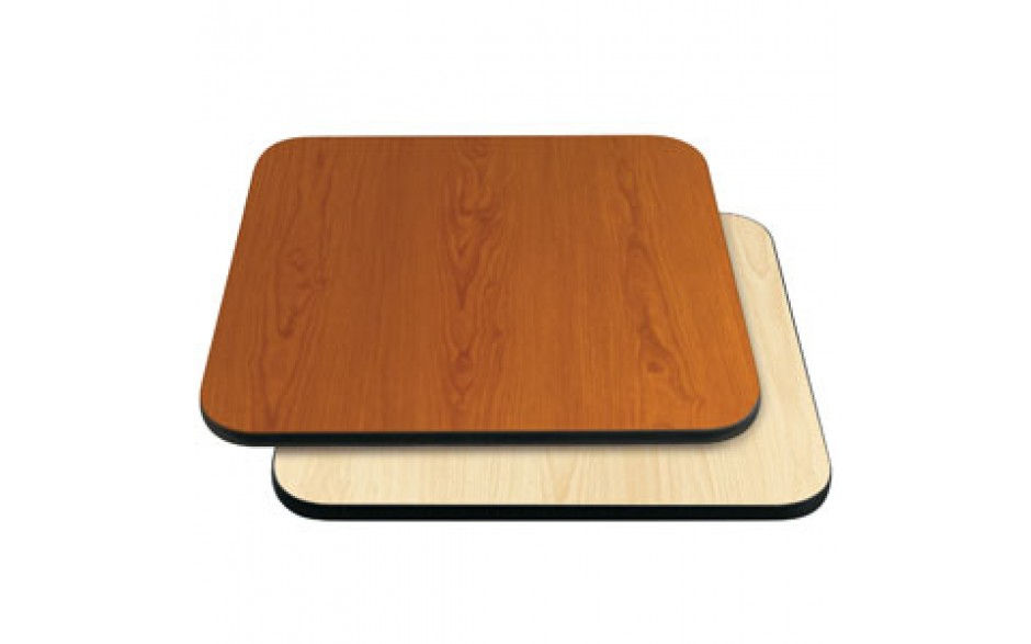 """24"""" W x 30"""" D x 1"""" H Double-Sided Table Top - Black Edge Cherry / Natural Laminate"""