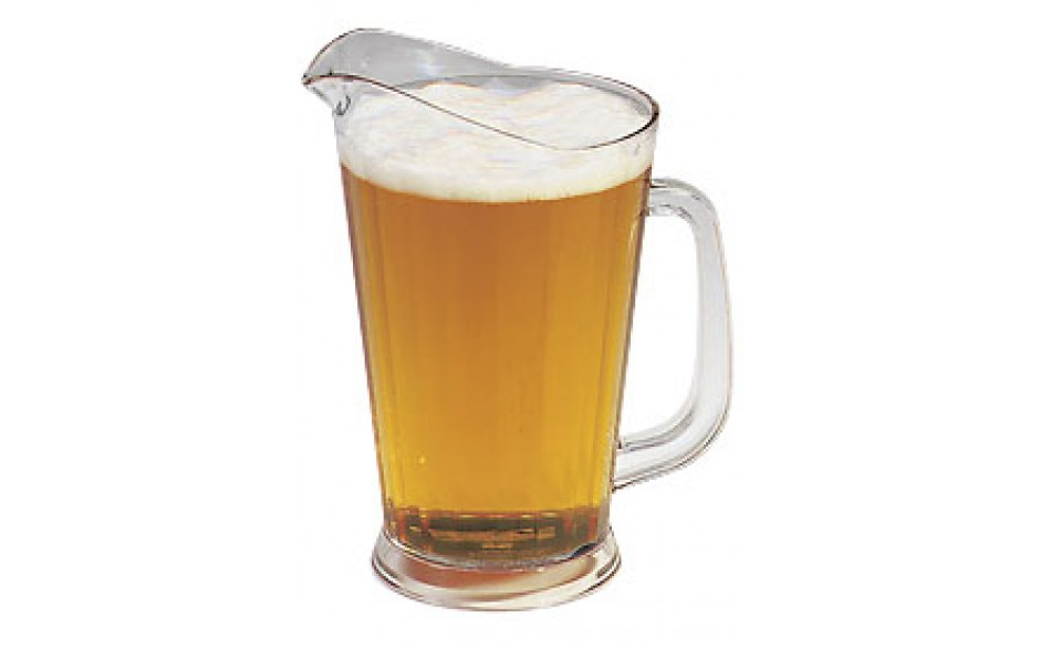 60 Oz. Plastic Beer Pitcher - Clear
