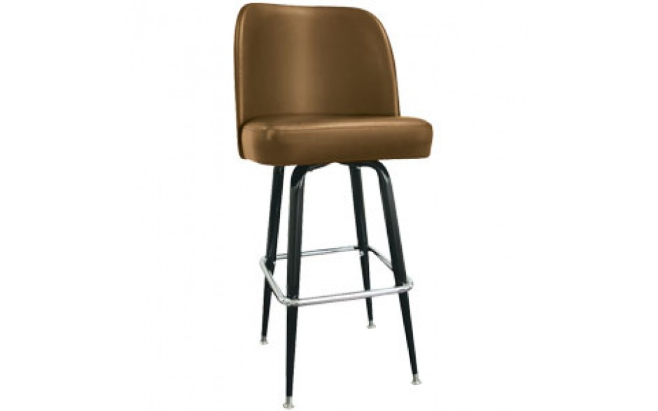 Mocha Club Seat Box Frame Classic Swivel Bar Stool