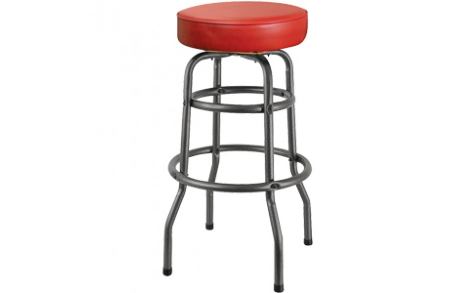 Silver Vein Backless Double Ring Swivel Stool Serv U
