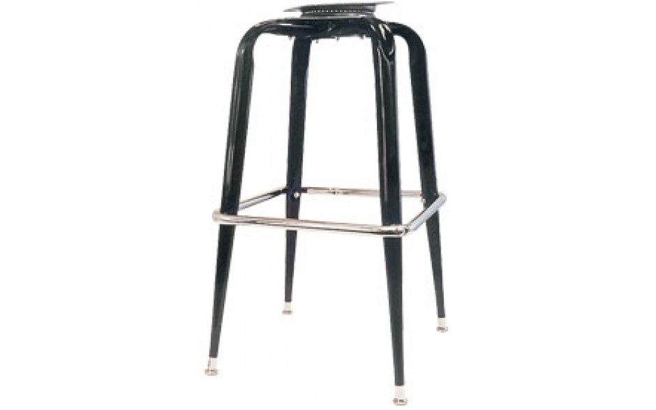 Black Box Bar Stool Frame with Flat Swivel