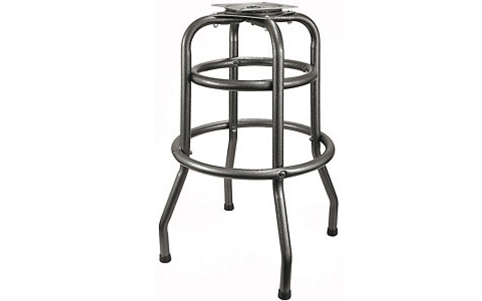 Silver Vein Double Ring Bar Stool Frame With Flat Swivel