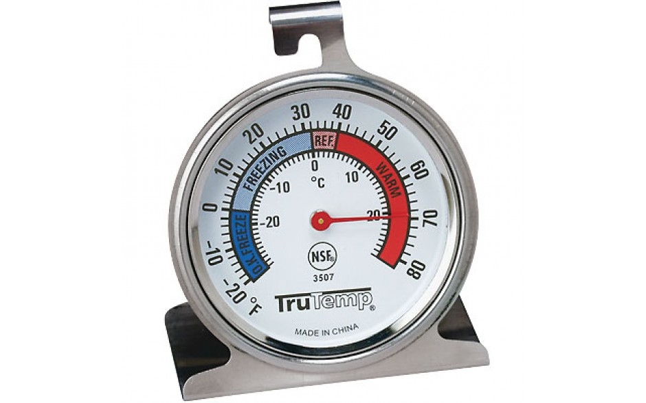 -20°F to 80°F Stainless Steel Refrigerator/Freezer Thermometer