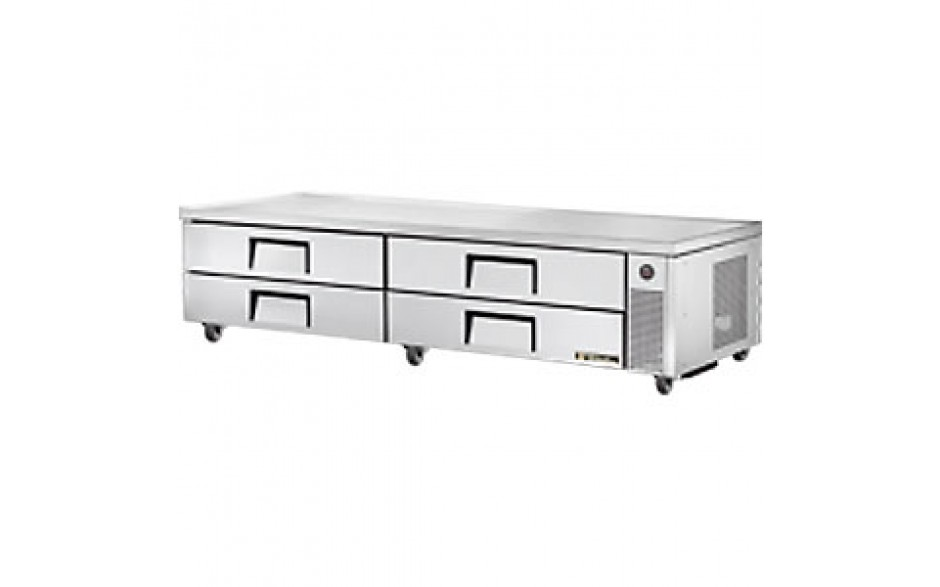 """95 1/2"""" W Four Drawer Twelve Pan Flush Top Refrigerated Chef Base"""