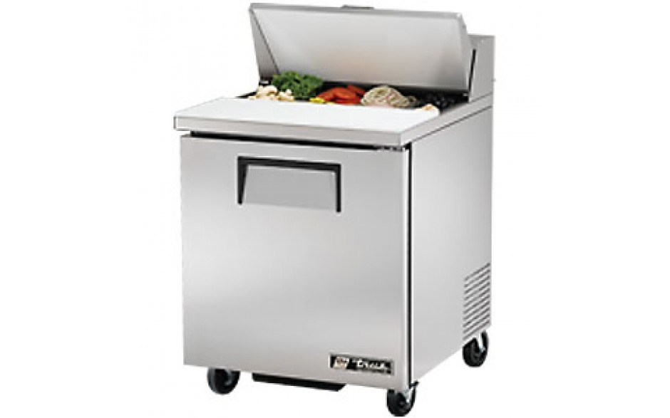 "27 7/8"" W One Door Eight Pan Sandwich/Salad Unit"