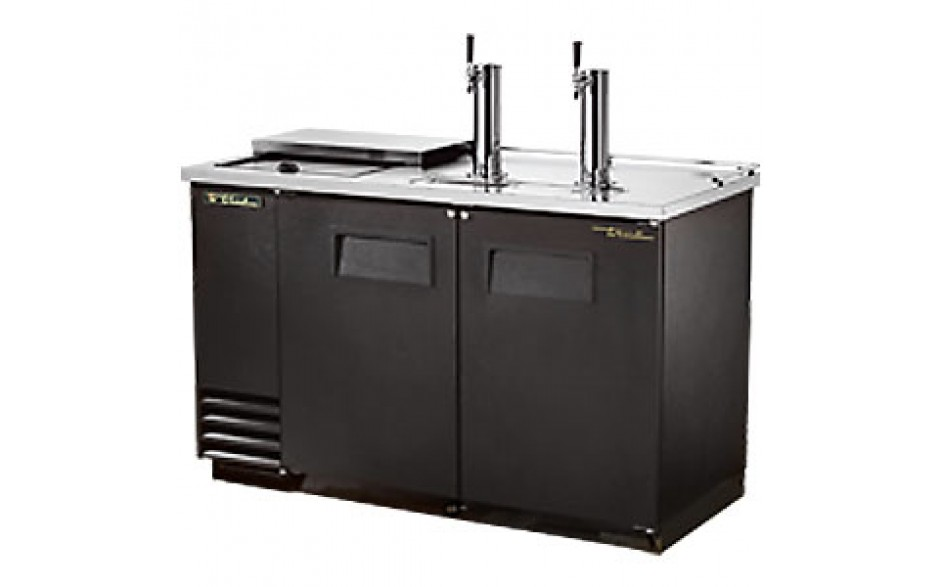 "59"" Wide Club Top Direct Draw Beer Dispensers - Black Vinyl"