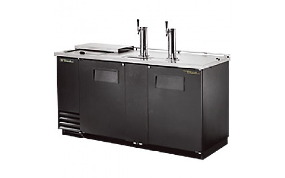 "69"" Wide Club Top Direct Draw Beer Dispensers - Black Vinyl"