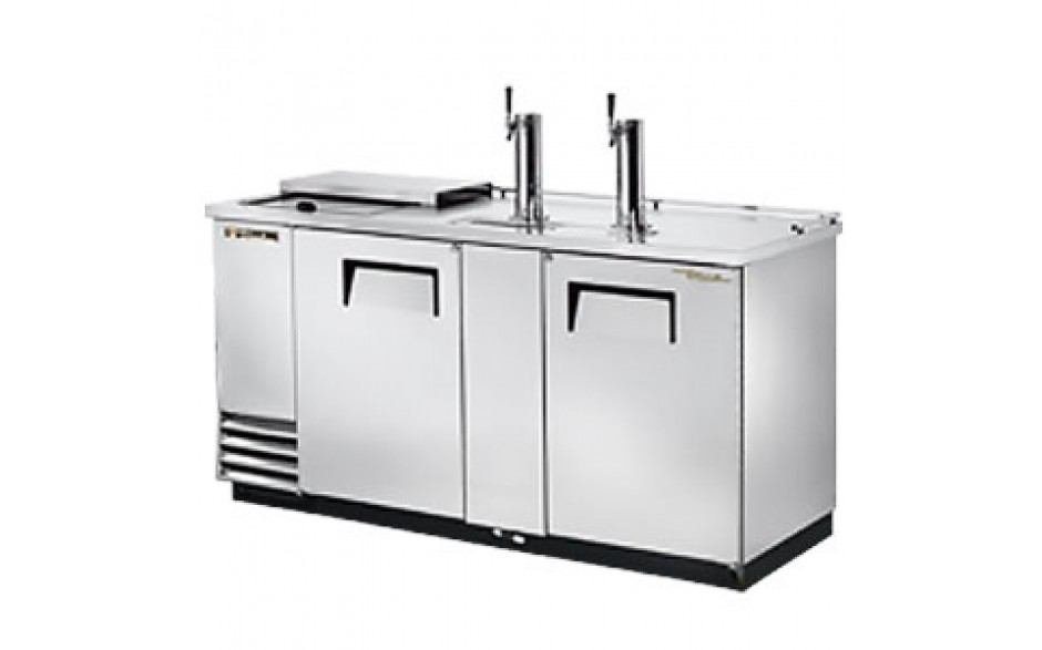 """69"""" Wide Club Top Direct Draw Beer Dispensers - Stainless Steel"""