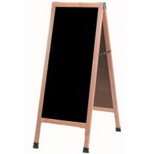 "42"" H x 18"" W A-Frame Oak Wood Board"