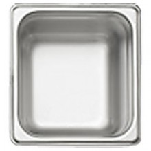 """6 7/8"""" x 6 5/16"""" x 2 1/2"""" Sixth Size Steam Table Pan"""