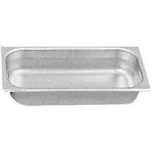 "6 7/8"" x 12 3/4"" x 4"" Third Size Steam Table Pan"