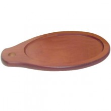 "12 1/2"" x 7 7/8"" Fajita Skillet Wood Underliner"