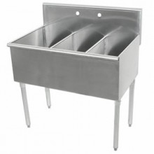 "Three 18"" x 21"" x 12"" Tub Budget Sink"