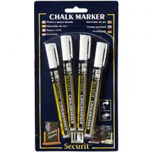 4 Pack White Markers