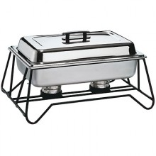 8 Quart Stackable Wrought Iron Frame Complete Chafer