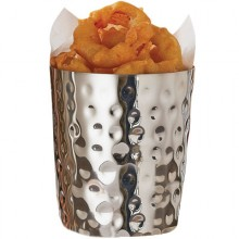 26 oz. Hammered Stainless Steel French Fry Cup