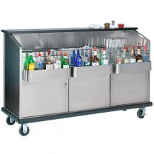 6' L Closed Back Ambassador Portable Bar