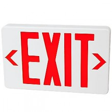 "1 1/2"" D Lighted Exit Sign with Backup"