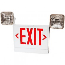 Emergency Light/Exit Sign - White