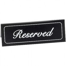 "2"" x 5 3/4"" Reserved Table Tent"