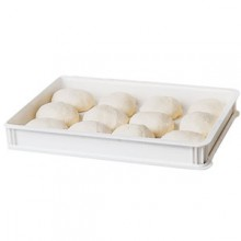 "18"" W x 26"" L x 3"" D Polycarbonate Pizza Dough Boxes"