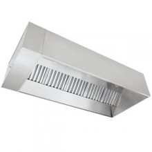 8' L 304 Stainless Steel Exhaust Only Hood (Complete) with Fan