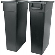 23 Gallon Wall Hugger Receptacle without Handles