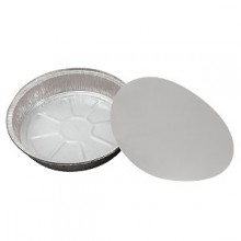 "7"" Round Foil Pan Container w/Board Lid"