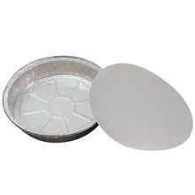 "9"" Round Foil Pan Container w/Board Lid"