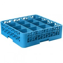"5 9/16"" H 16 Compartment Opticlean™ Glass Rack"