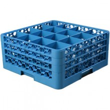 "8 11/16"" H 16 Compartment Opticlean™ Glass Rack"