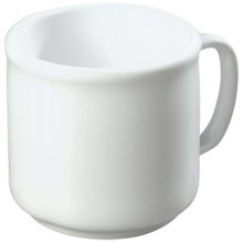 Plastic Stackable™ Mug - White