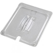 Half Size Top Notch® Food Pan Notched Handled Lid - Clear