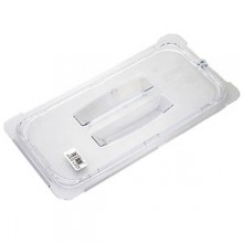 Third Size Top Notch® Food Pan Solid Handled Lid - Clear