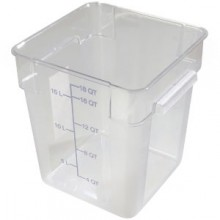 18 Quart StorPlus™ Clear Square Food Storage Container