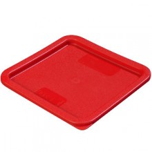 6 or 8 Quart Red Lid for StorPlus™ Clear Square Food Storage Container